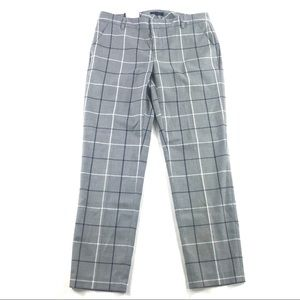 Tommy Hilfiger Slim Ankle Pants Grey Windowpane 4